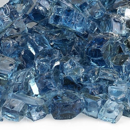 AFG AFF-PABLRF12-10 Pacific Blue 10 lbs. Reflective Fire Glass - 1/2""