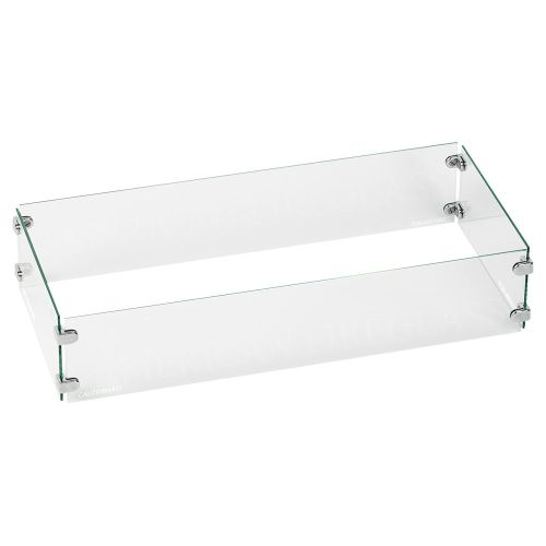 """AFG Tempered Glass Flame Guard for 18"""" x 6"""" Drop-In Fire Pit Pan"""