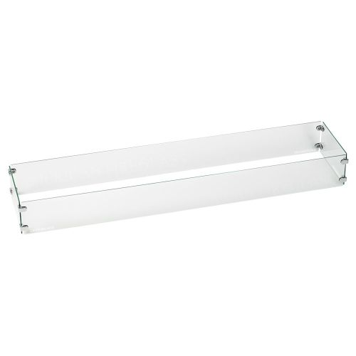 """AFG Tempered Glass Flame Guard for 30""""x6"""" Linear Drop-In Fire Pit Pan"""