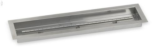 """AFG SS-LCB-30 Stainless Steel Linear Drop-In Fire Pit Pan - 30"""" x 6"""""""