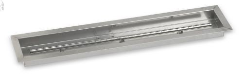 """AFG SS-LCB-36 Stainless Steel Linear Drop-In Fire Pit Pan - 36"""" x 6"""""""