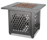 GAD1429SP- Lp Gas Outdoor Firebowl With Slate Tile Mantel