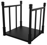 UniFlame W1732 Black 5 Piece Craftsman Log Rack