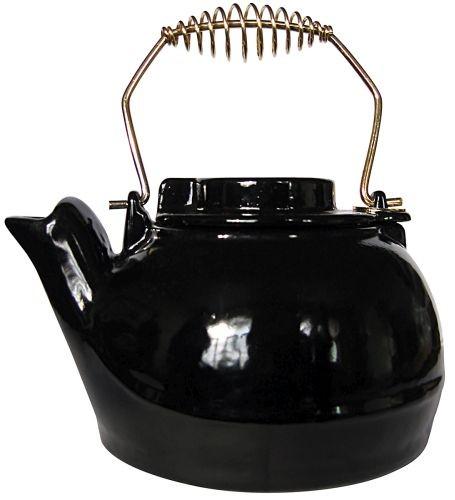UniFlame C1927 2.5 QT Porcelain Coated Kettle - Black