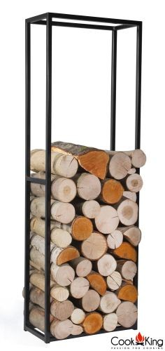 "Cook King 333231 Cornel Wood Rack - 47.2"" x 15.7"" x 7.9"""