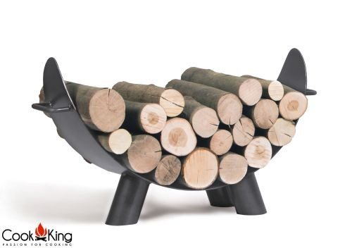 """Cook King 333240 Mila Wood Rack for Fire Bowl - 31.5"""" x 16.9"""""""