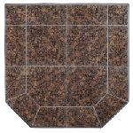 36x45 Baltic Brown Granite Corner Stovboard