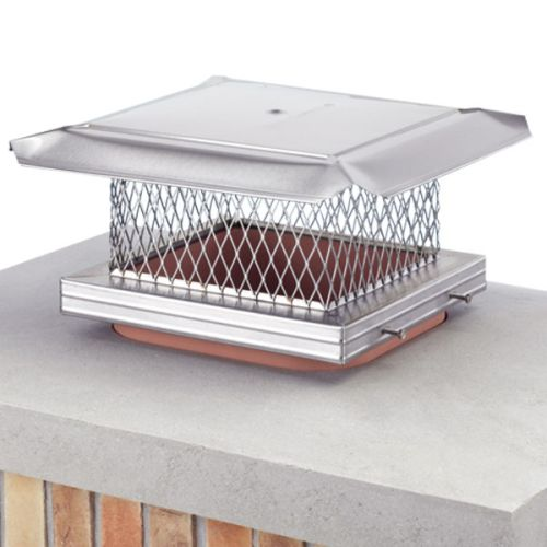 "HomeSaver Pro 8"" x 13"" SS Single-Flue Chimney Cap 3/4"" Mesh"