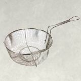 """Bayou Classic 0126 11"""" Stainless Steel Fry Basket with Folding Handle"""