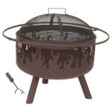 Brown Steel Flame Fire Pit - 26 inch