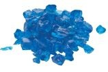 10 Lb. Bag Of Aqua Blue Fire Glass - 0.5 To 0.75 Inch