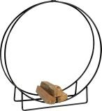 LH48 Black Steel Log Hoop - 48 x 12 inch