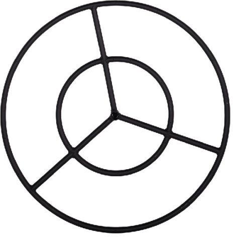 Black Steel Fire Ring - 24 inch