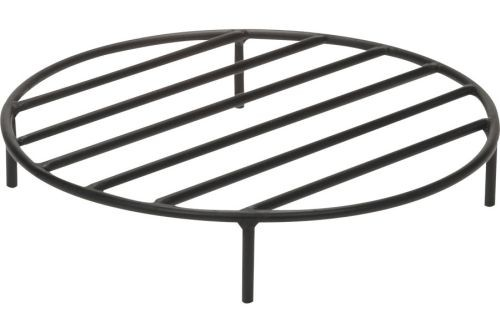Black Steel Fire Ring Grate - 22 inch