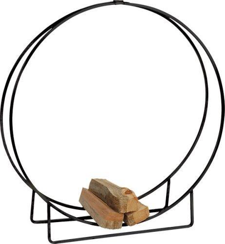 LH48 Black Steel Log Hoop - 48 x 12 inch