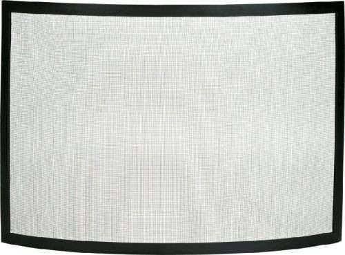 Black Panel Screen with Bowed Design - 31 inch