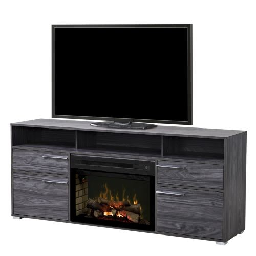 "Sander Media Console with 25"" Multi-fire logset firebox- Walnut"