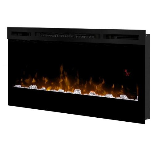 Prism Series Wall-mount Black Electric Linear Fireplace - 34 inch