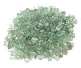 "10 LBS 1/4"" Size Fire Glass- Mint"