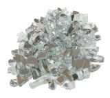 "10 LBS 1/4"" Size Fire Glass- Silver"