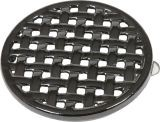 "7 1/4"" Diameter Round Trivet In Black Enamel Finish"