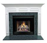 Litchfield II MDF Primed White Fireplace Mantel Surround - 36 inch
