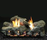 "Empire 30"" Stacked Wildwood Refractory Log Set with Vented Burner - LP"