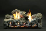 "18"" Stacked Wildwood Logs with VF Slope Glaze Burner - NG"