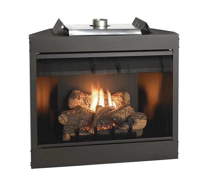 "Keystone Series 36"" Deluxe B-Vent IP Flush Face Fireplace - NG"