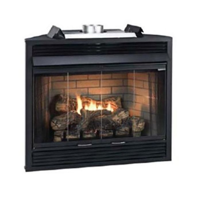 "Keystone Series 34"" Deluxe B-Vent IP Louver Fireplace - NG"