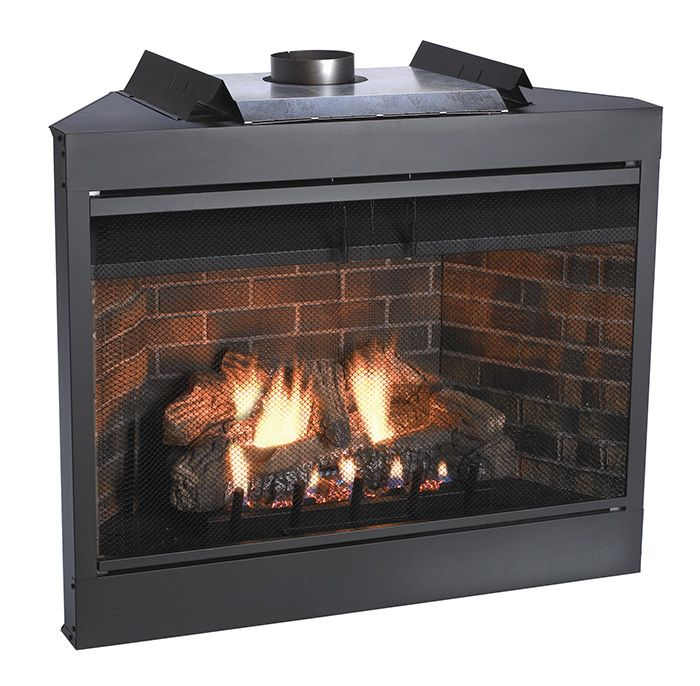 "Keystone Series 42"" Deluxe B-Vent IP Flush Face Fireplace - NG"