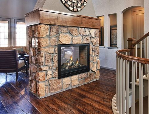 Tahoe Premium 36 Clean Face DV MV See-Through Fireplace - Natural Gas