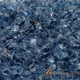 "8 Pound Container of 1/4"" Blue Lagoon Fireglass"