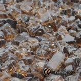 "1 Pound Bag of 1/4"" Chestnut Bronze Fireglass"