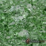 "8 Pound Container of 1/4"" Rainforest Green Fireglass"