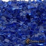 "8 Pound Container of 1/4"" Royal Blue Fireglass"
