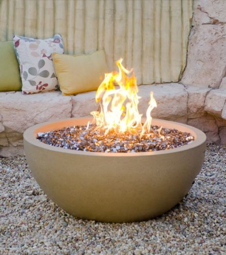 """36"""" Fire Bowl in Smoke Finish with AWEIS System - Liquid Propane"""