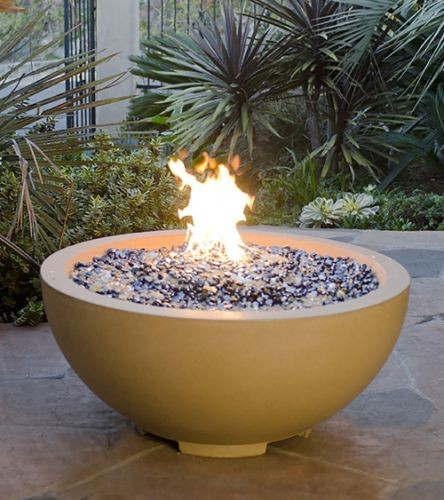 """32"""" Fire Bowl in Smoke Finish with AWEIS System - Natural Gas"""