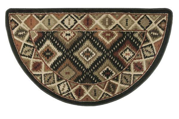 Oriental II 10491 Southwest Pattern Half Round Rug