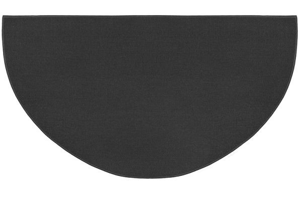 "Guardian 48"" x 27"" Half Round Hearth Rug - Charcoal"