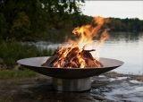 "Bella Vita Fire Pit Bowl Stainless Steel 46"" Diameter By Firepit Art"