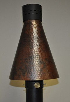 HPC Hammered Copper TK Torch Head Kit -Match Lit - Natural Gas Model