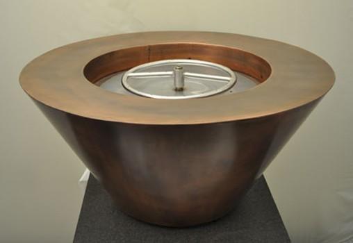 "HPC 32"" Diameter Mesa Copper Bowl Fire Pit - Match Lit - Natural Gas"
