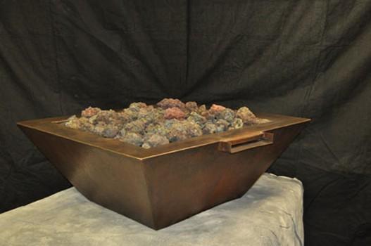 "HPC 40"" Sedona Copper Bowl Fire Pit - Match Lit - Natural Gas"