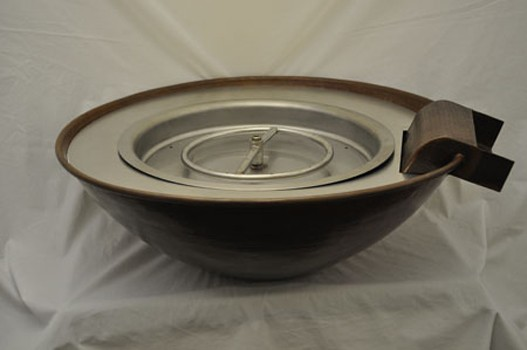 HPC 31 Inch x 11 Tempe Round Copper Bowl Fire Pit - Natural Gas