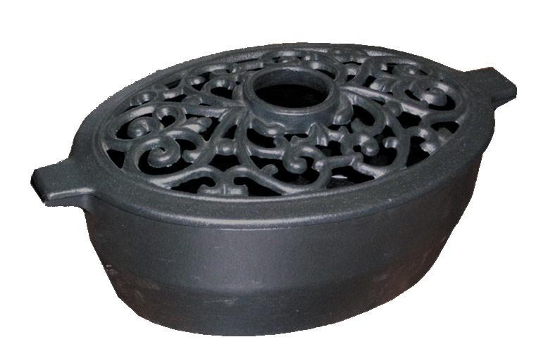 Large Filigree Black Matte Steamer