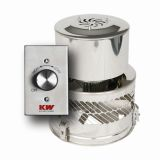 120VAC High Temperature Exhaust Fan w/ adapter & Controller - 1.6 Amps