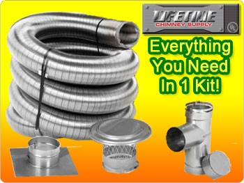Lifetime 4X25 Smooth Wall Chimney Liner Kit