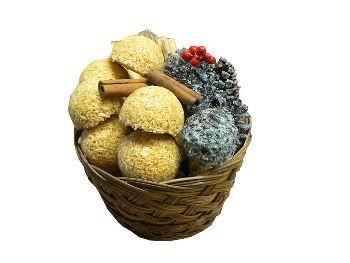 Round Basket- (Kindling/Nuggets/Color Cones)