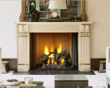 "50"" Ashland Radiant Wood Burning Fireplace w/Traditional Brick Panel"